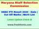 Haryana PTI Selection List 2020