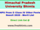 Himachal Pradesh University Peon Selection List 2020