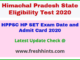 HPPSC CET Hall Ticket 2020