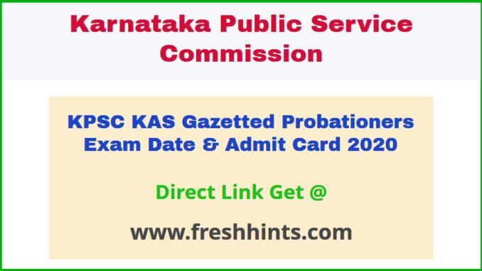 Karnataka Administrative Service GP Hall Ticket 2020
