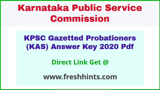 Karnataka Administrative Service Key Answer Sheet 2020