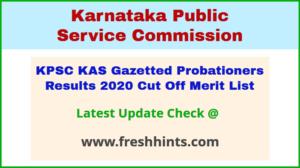 Karnataka Administrative Service Results 2020