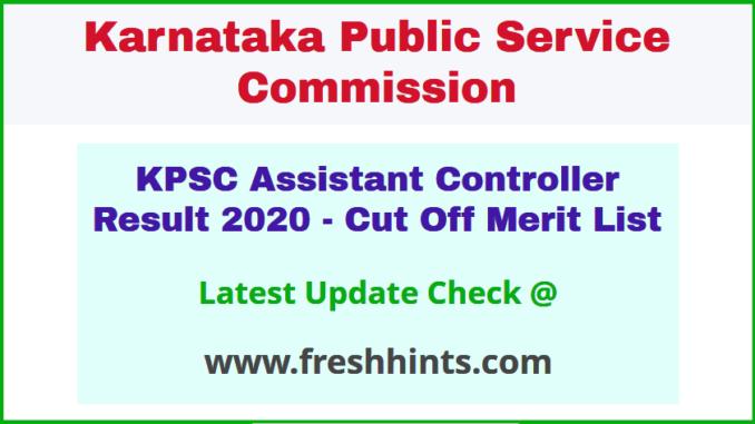 Karnataka Assistant Controller Selection List 2020