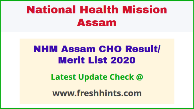 NHM Assam Certificate in Community Health Course Results 2020