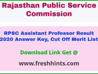 Rajasthan College Lecturer Result 2020