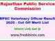Rajasthan Pashu Chikitsa Adhikari Result 2020