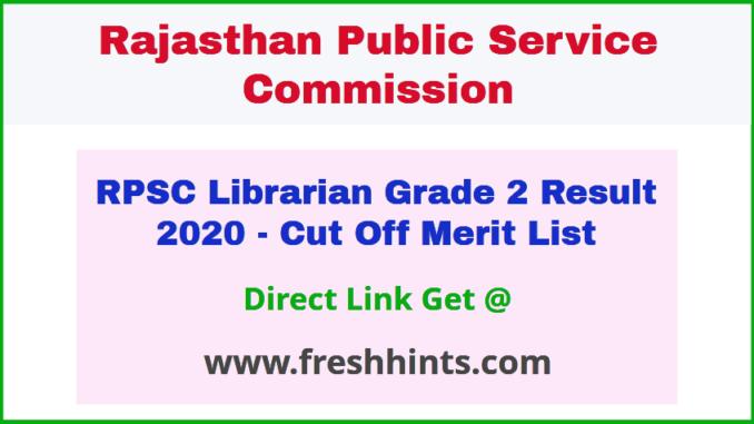 Rajasthan Pustakalaya Adhyaksh 2nd Grade Bharti Results 2020
