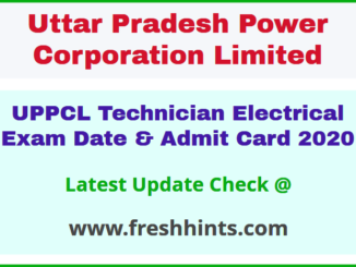 UPPCL Technician Electrical Hall Ticket 2020