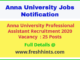 Anna University Professional Assistant Recruitment 2020