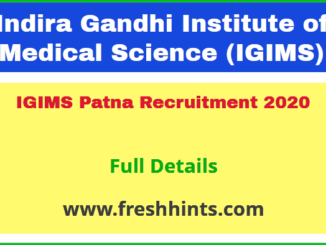 IGIMS Patna Recruitment 2020