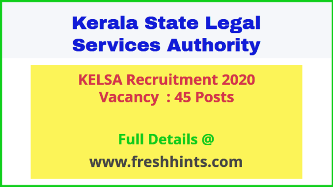 KELSA Recruitment 2020