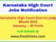 Karnataka High Court District Judge Bharti 2020