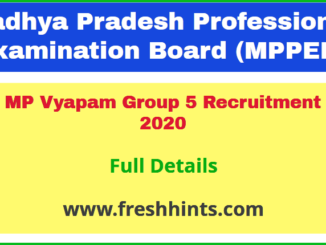 MP Vyapam Group 5 Recruitment 2020
