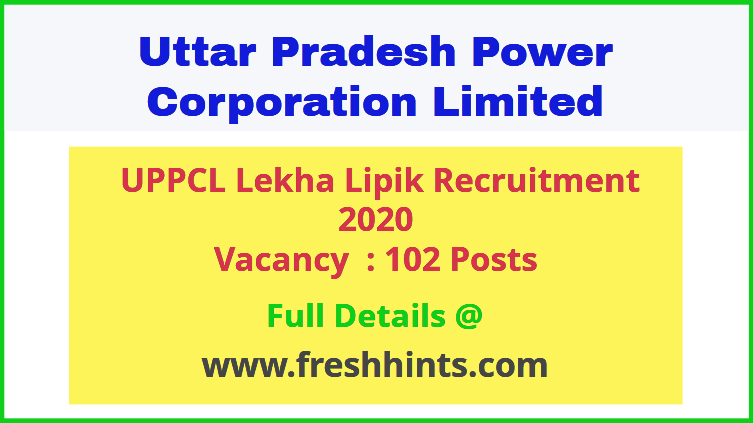 UPPCL Lekha Lipik Recruitment 2020
