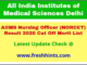 AIIMS Delhi Nursing Officer Selection List 2020