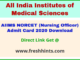 AIIMS Staff Nurse Grade 2 Hall Ticket 2020 Download
