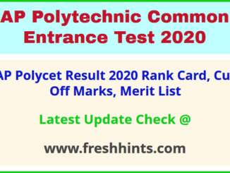 AP Polytechnic Entrance Exam Result 2020