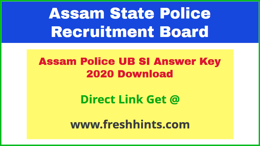 assam-police-sub-inspector-answer-sheet-2020