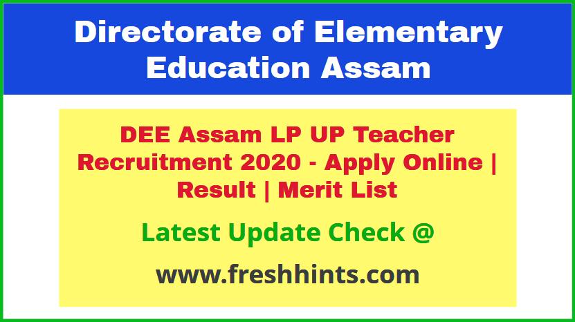 Assam Primary Teacher Selection List 2020