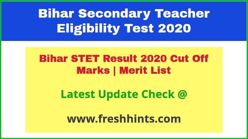 Bihar TET Exam Results 2020