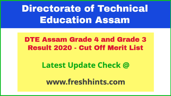 Dhemaji Engineering College Grade 3 & 4 Results 2020