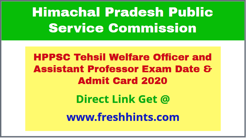 HP Assistant Professor Hall Ticket 2020 Download