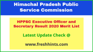 HP Executive Officer and Secretary Selection List 2020