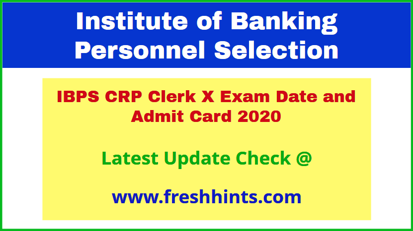 IBPS CRP Clerk X Call Letter 2020 Download