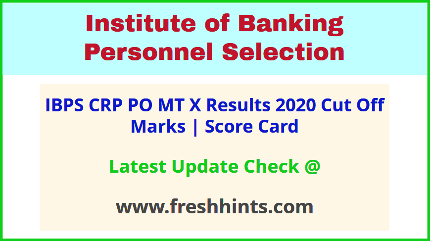IBPS CRP X Probationary Officer Results 2020