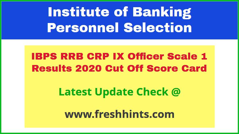 IBPS RRB CRP IX Scale 1 Scorecard 2020