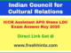 Indian Council for Cultural Relations answer sheet 2020