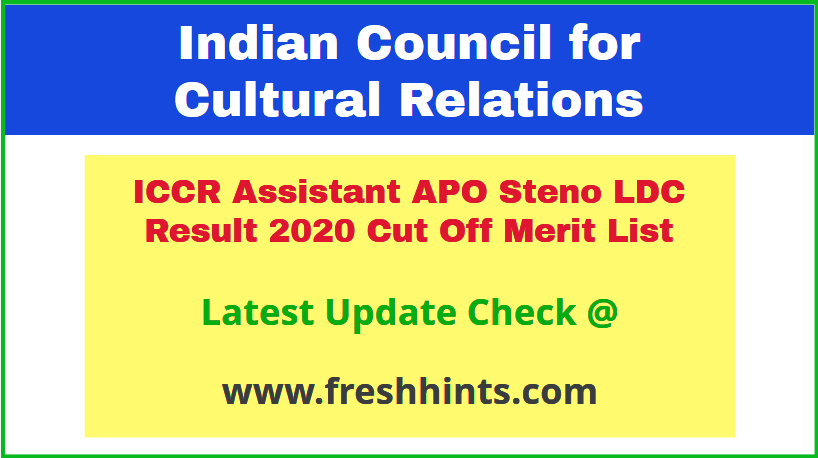 indian-council-for-cultural-relations-apo-results-2020