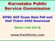 Karnataka Assistant Conservator of Forest Admit Card 2020 Download