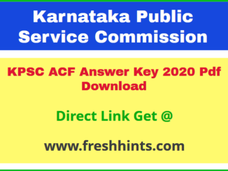 Karnataka Assistant Conservator of Forest Key Answer 2020