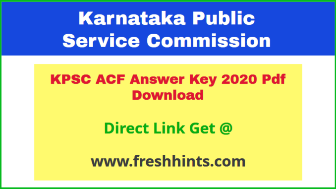 Karnataka Assistant Conservator of Forest Key Answer 2020