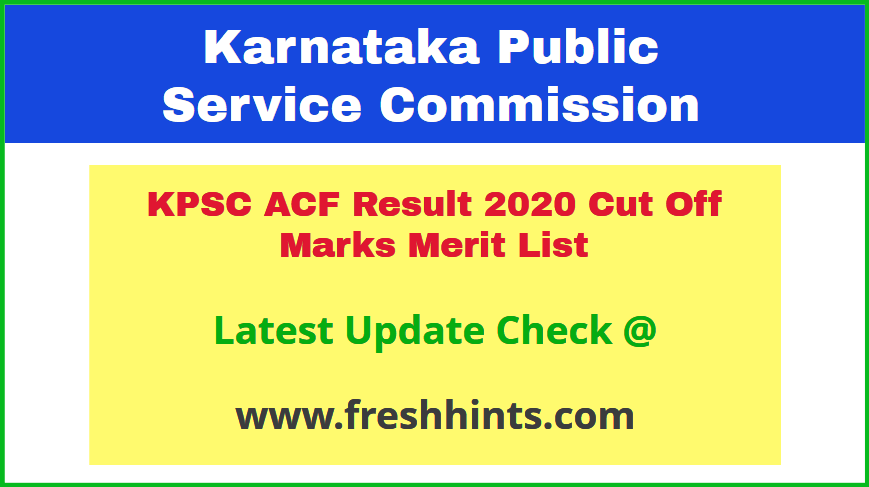 Karnataka Assistant Conservator of Forest Results 2020