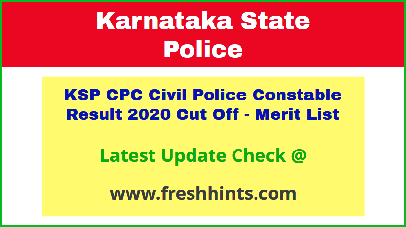 Karnataka Civil Police Selection List 2020