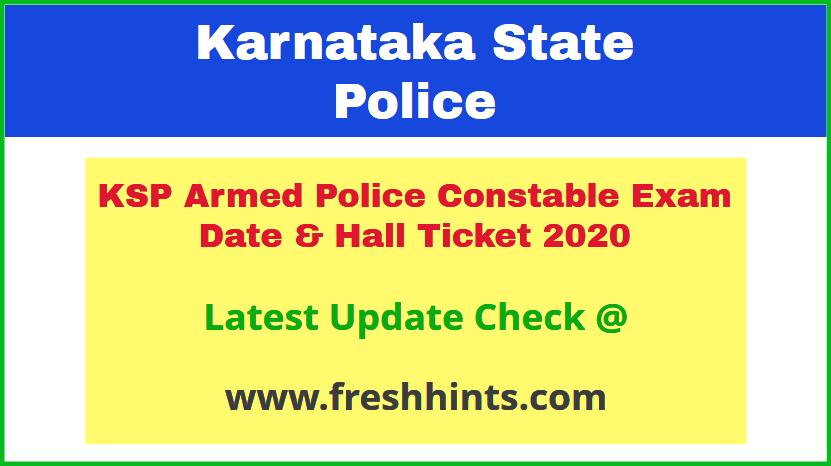 Karnataka State Police APC Admit Card 2020