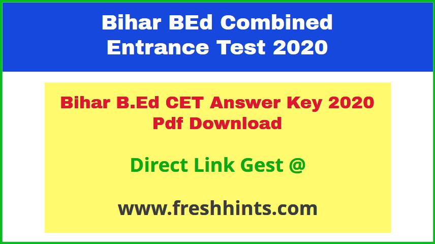 LNMU BEd Entrance Exam Answer Key 2020