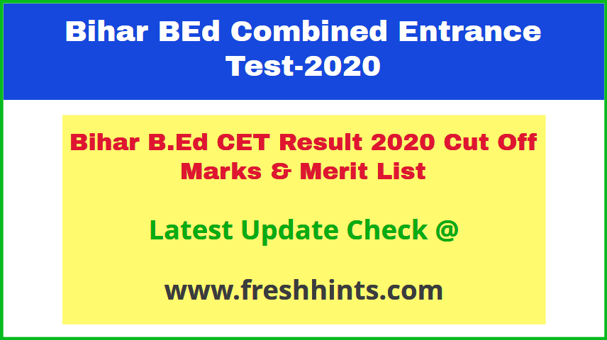 LNMU BEd Entrance Exam Results 2020