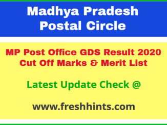 Madhya Pradesh Gramin Dak Sevak Selection List 2020