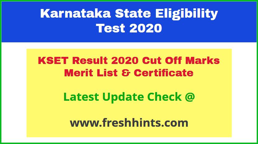 Mysore University KSET Results Certificate 2020 Download