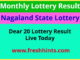 Nagaland Lotteries Dear 20 Winner List 2020