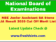 National Board of Examination JA SA Selection List 2020