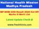 NHM Madhya Pradesh Community Health Officer Selection List 2020