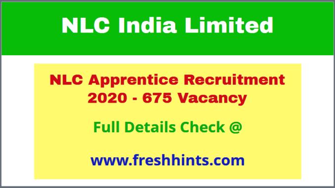 NLC India Apprenticeship 2020
