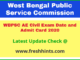 PSC WB PWD PHED WBPRD Assistant Engineer Admit Card 2020