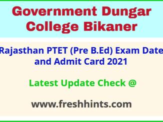 Raj BEd Entrance Exam Permission Letter 2021