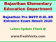 Raj BSTC Entrance Exam Results Score Card 2020