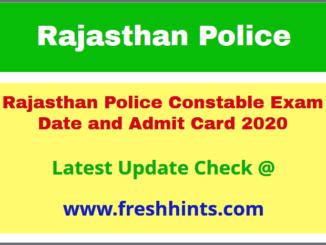 Raj Police Constable Permission Letter 2020
